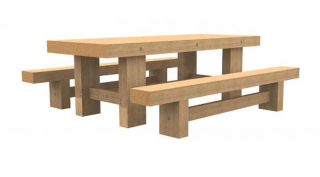 Coltman Bros Dining Table With Benches 2.40m x 0.96m